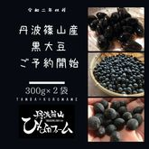 【販売終了】2020年産丹波黒豆300g(2.5合)×2袋